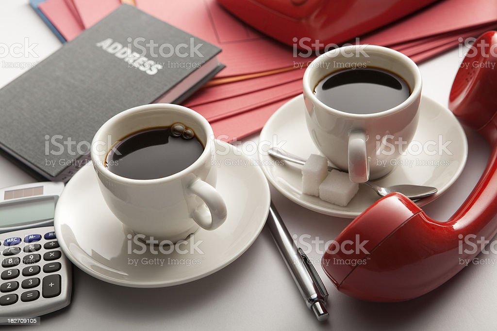 Coffee: Two Cups of Coffee stock photo