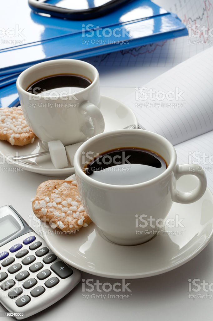 Coffee: Two Cups of Coffee royalty-free stock photo
