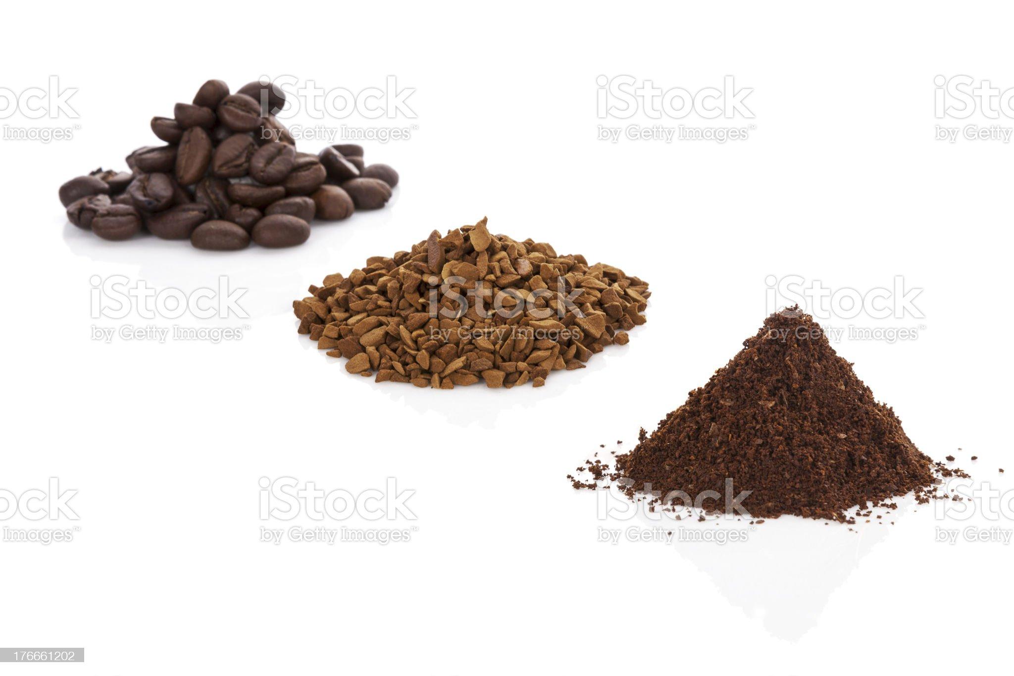 Coffee variation. royalty-free stock photo