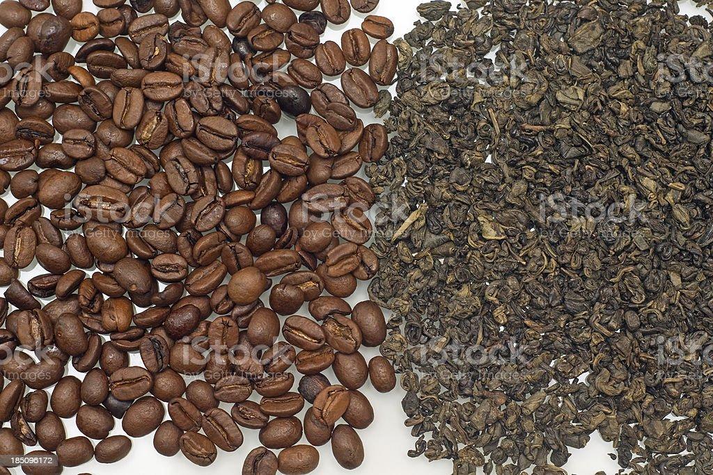 Coffee versus Tea royalty-free stock photo