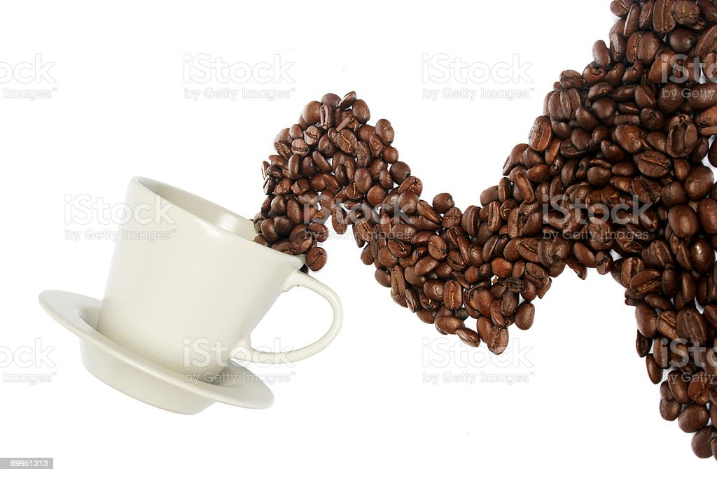 Coffee Wave royalty-free stock photo