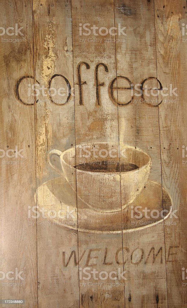 coffee welcome royalty-free stock photo