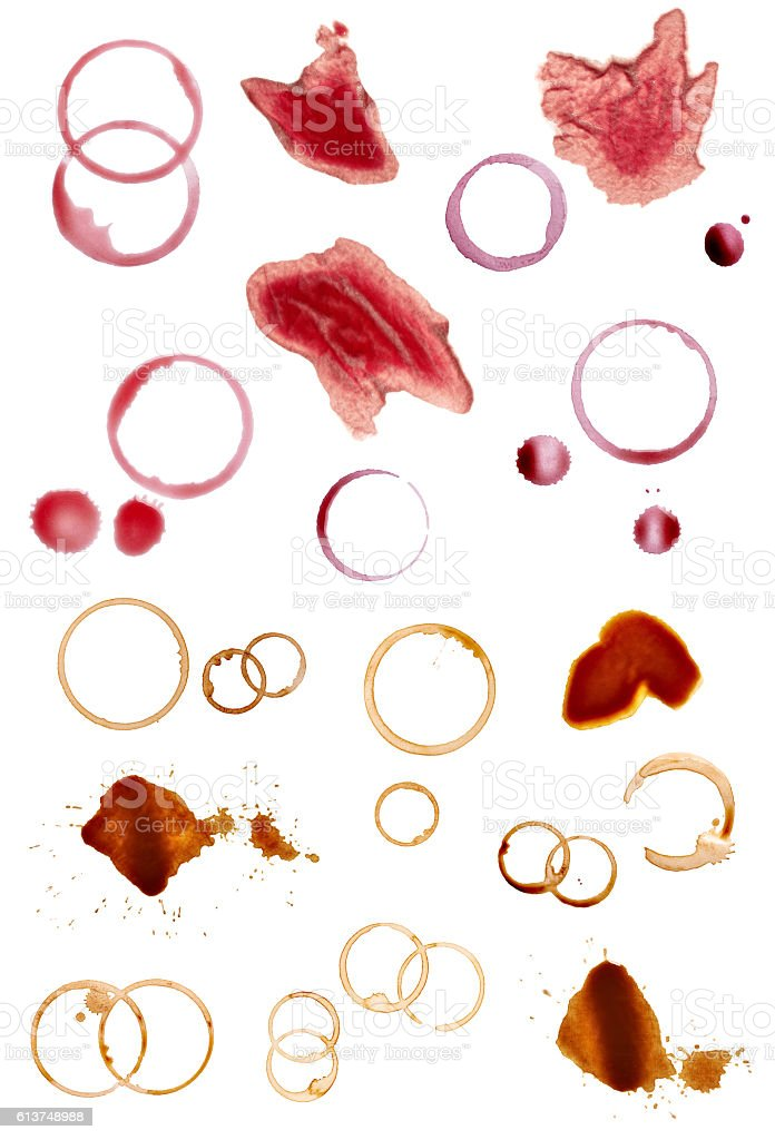 coffee wine alcohol stain fleck drink beverage stock photo