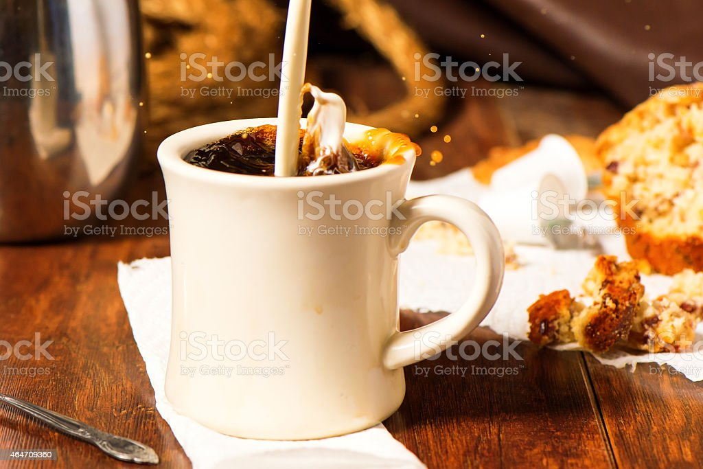 Coffee with a Splash of Cream stock photo