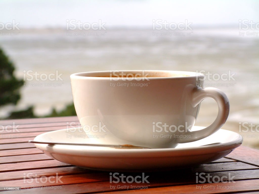 Coffee With A View royalty-free stock photo