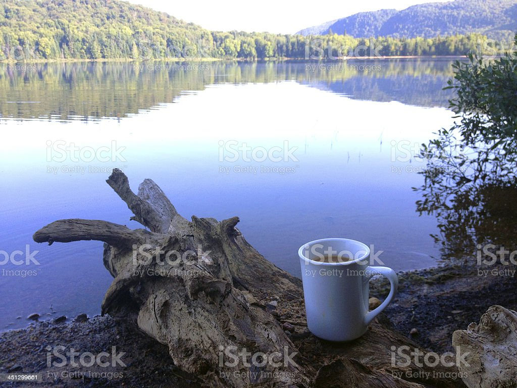 coffee with a view stock photo