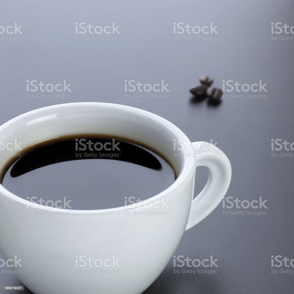 coffee with beans royalty-free stock photo