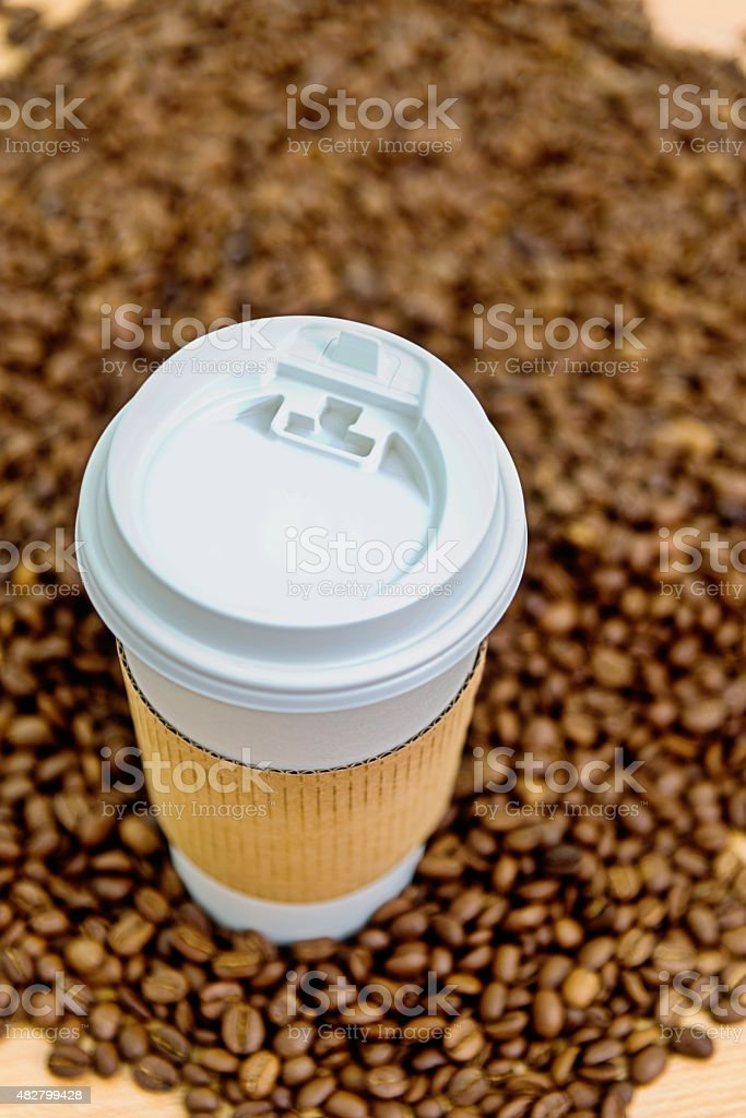coffee with beans stock photo
