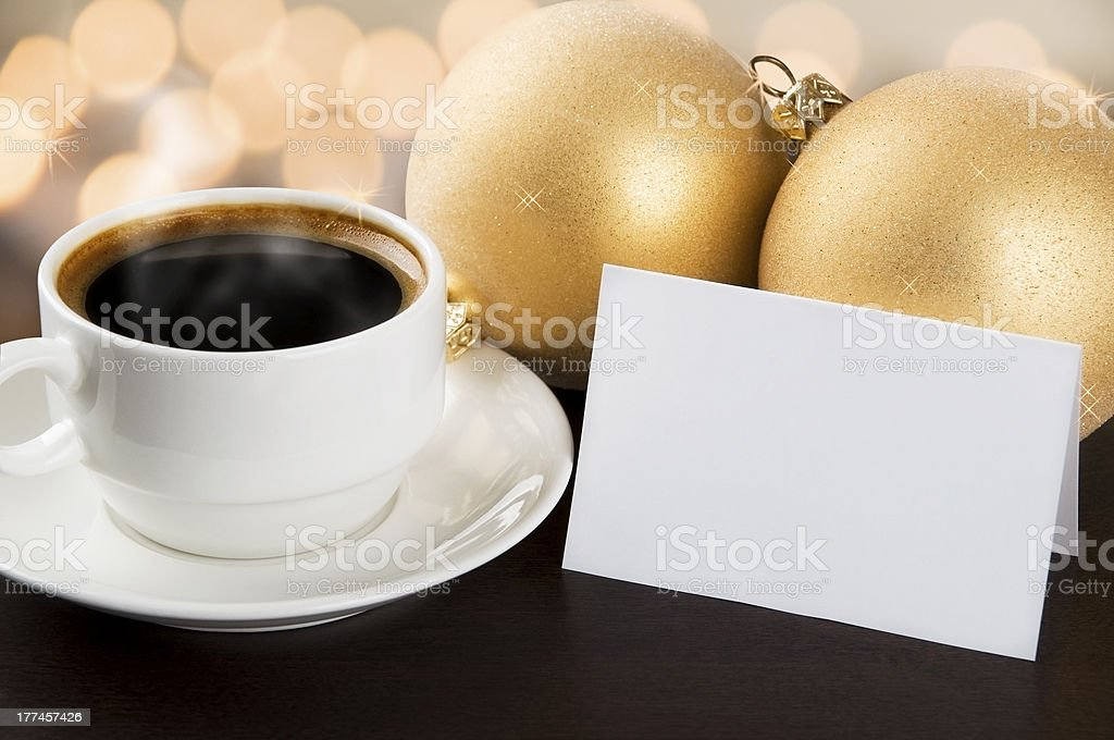 Coffee with best wishes royalty-free stock photo