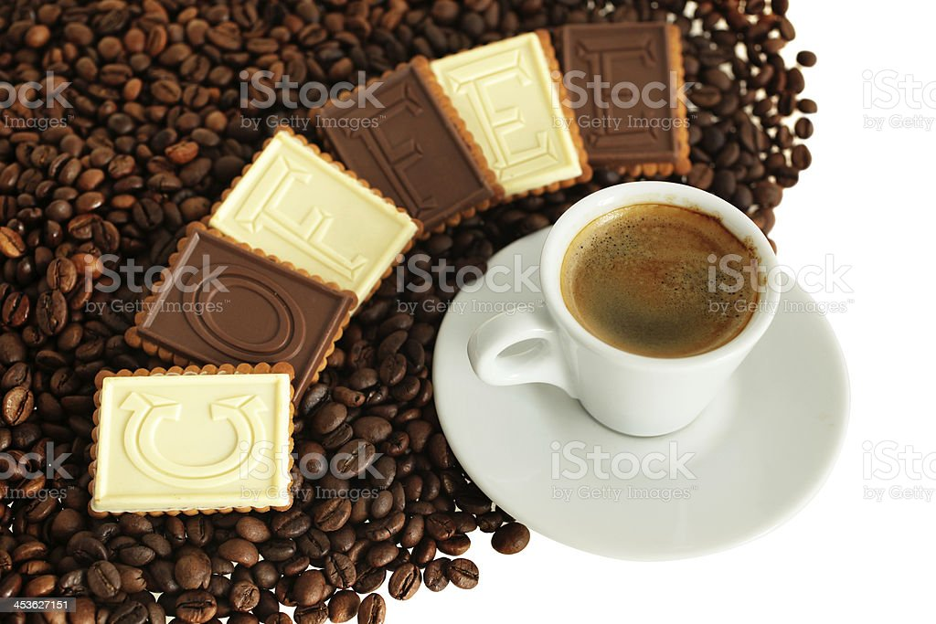 Coffee With Biscuits royalty-free stock photo