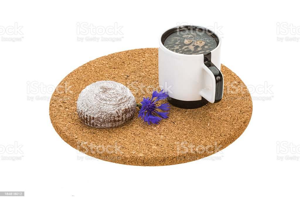 Coffee with cake royalty-free stock photo