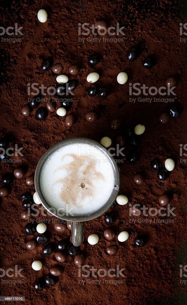 Coffee with chochlate stock photo