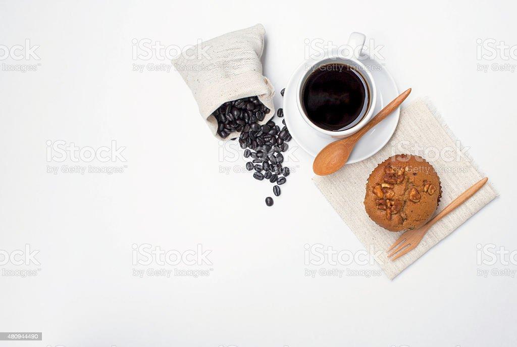 Coffee with Coffee muffin stock photo