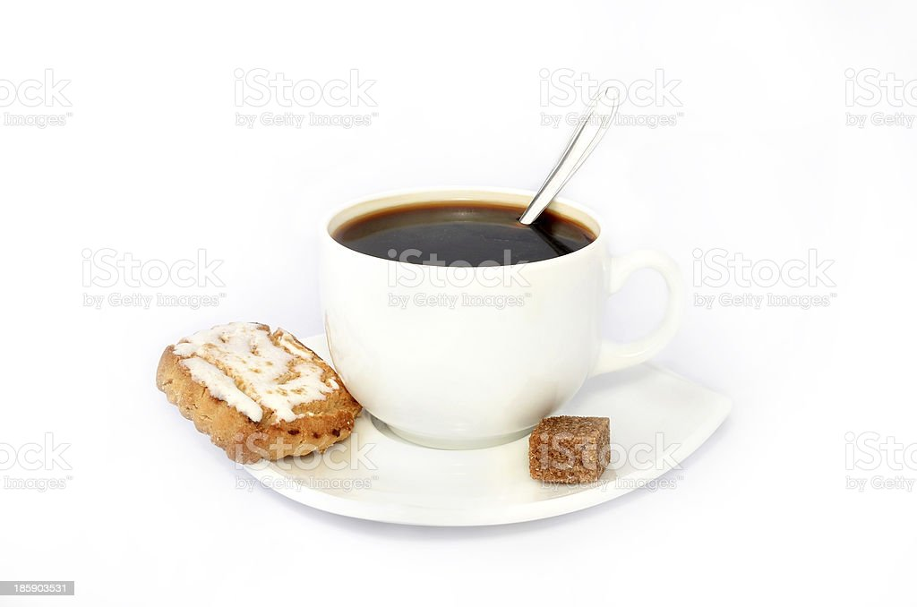 Coffee with cookies royalty-free stock photo