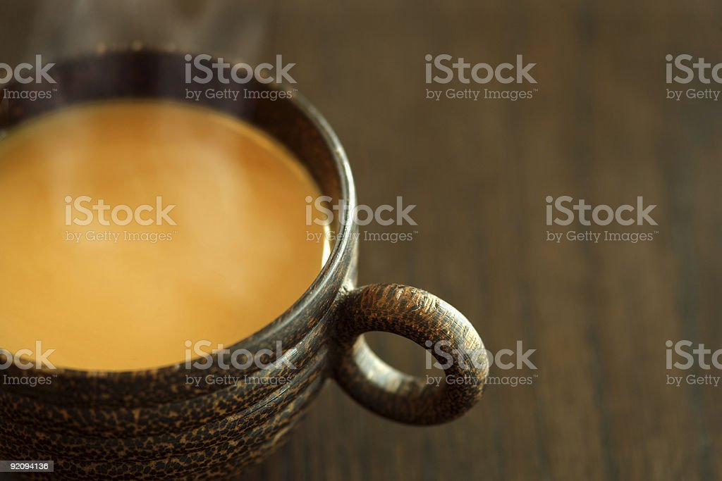 Coffee with cream royalty-free stock photo