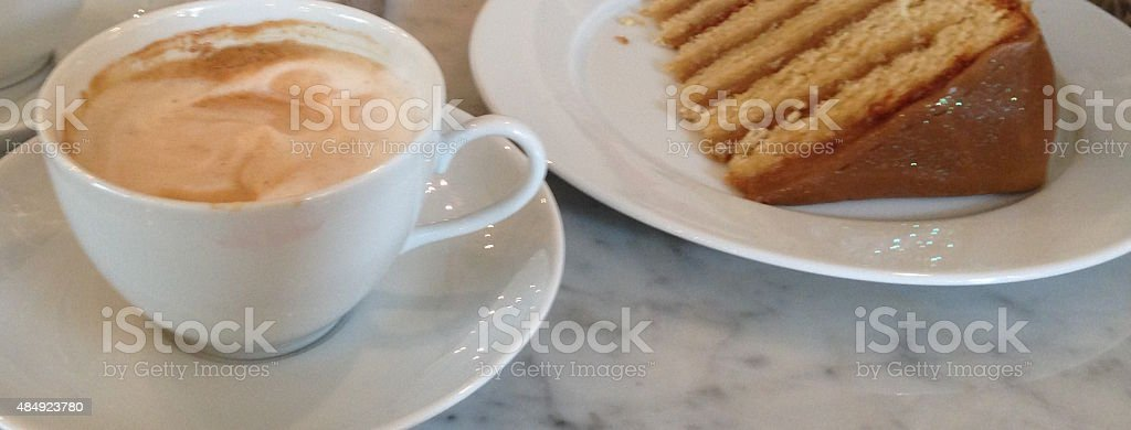 Coffee with dessert stock photo