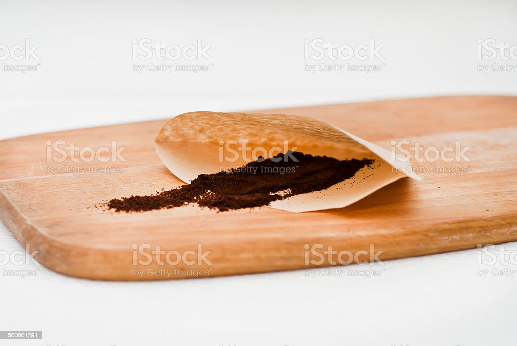 coffee  with filter paper stock photo