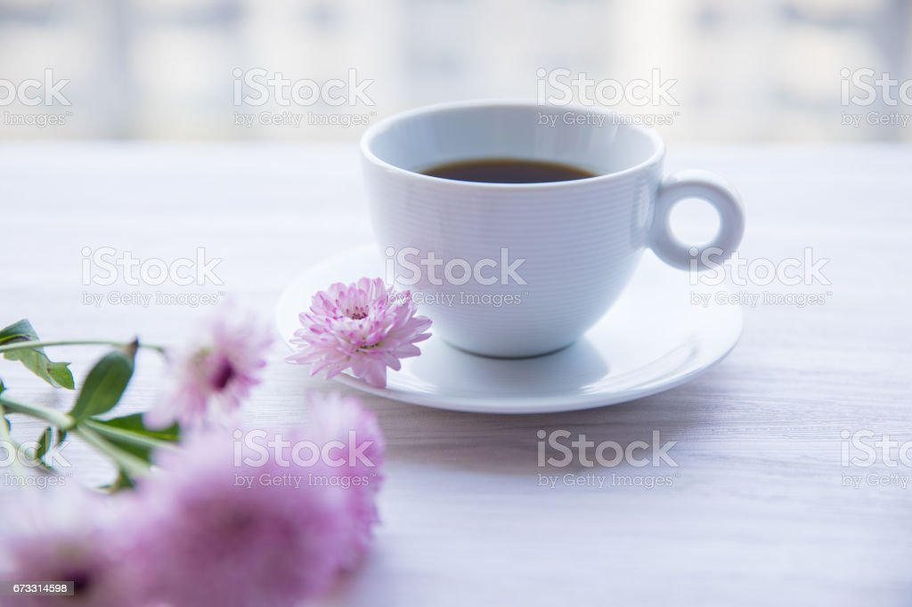 coffee with flowers