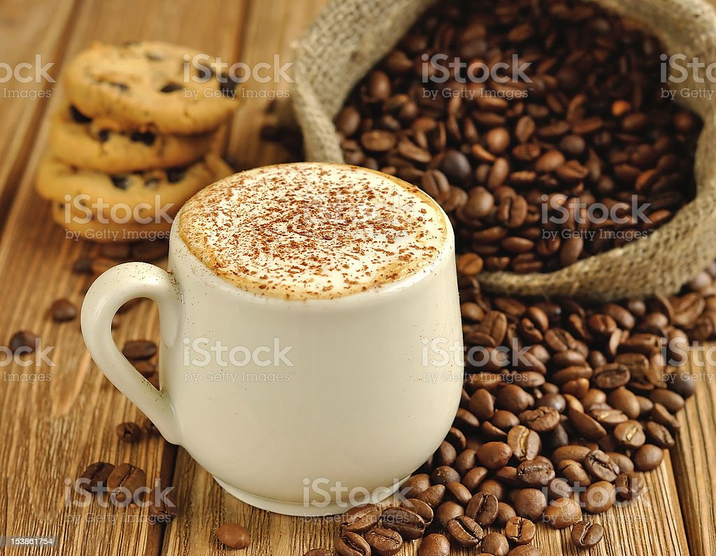 Coffee with foam royalty-free stock photo
