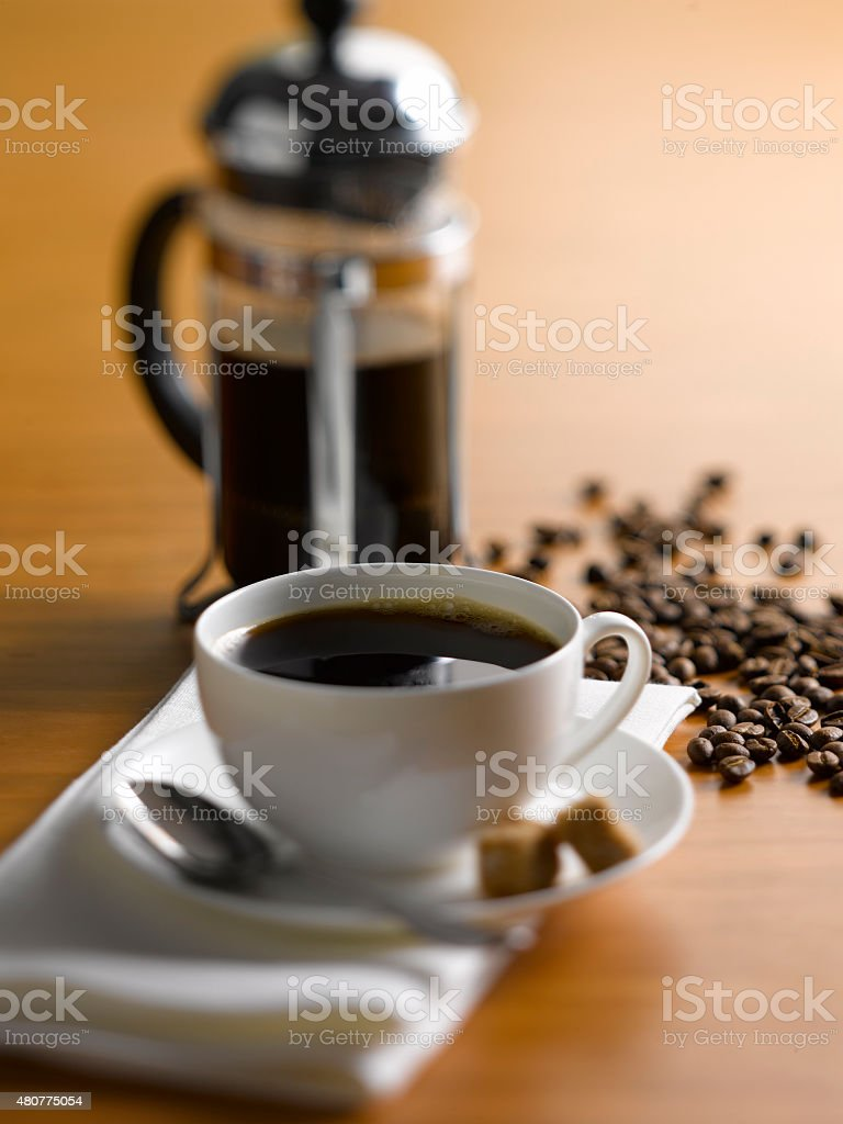 Coffee with French Press stock photo