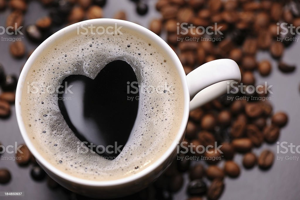 Coffee with heart shape royalty-free stock photo