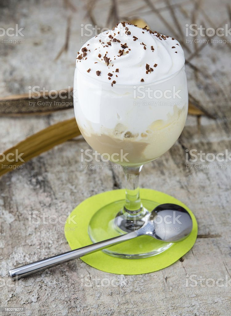 Coffee with ice cream royalty-free stock photo