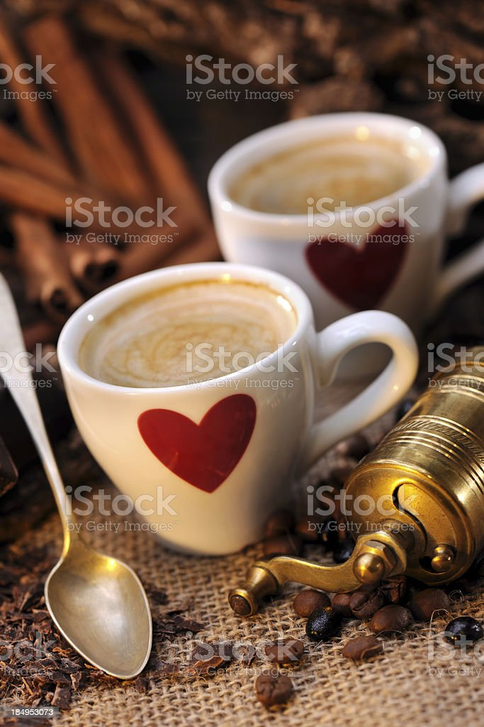 Coffee with love royalty-free stock photo