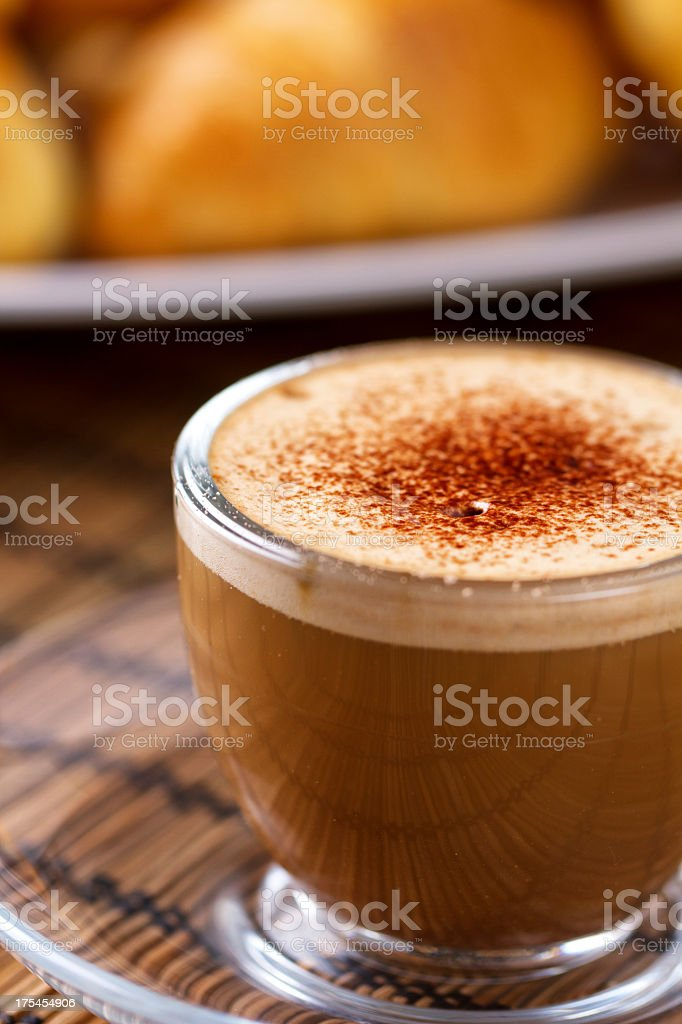 Coffee with milk and cocoa royalty-free stock photo