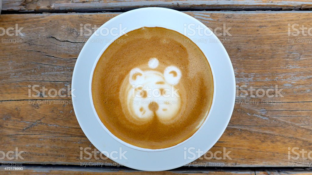 Café con leche de espuma foto de stock libre de derechos