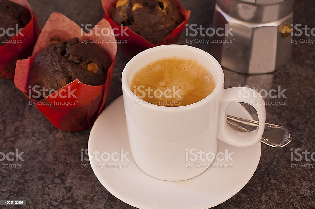 Coffee with muffins royalty-free stock photo