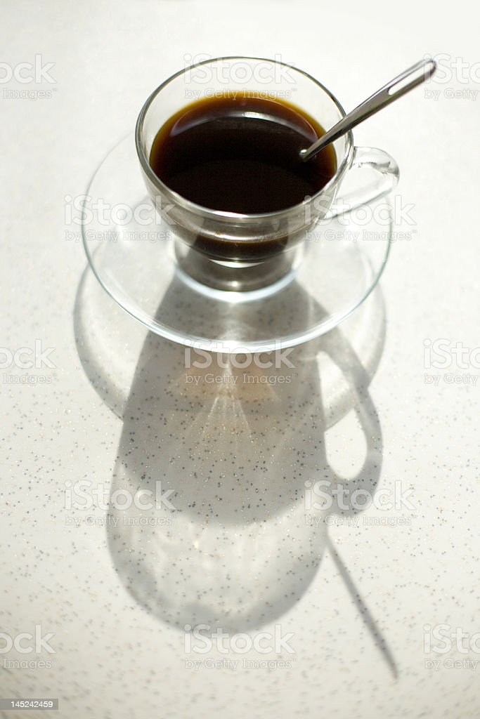 coffee with shadow royalty-free stock photo
