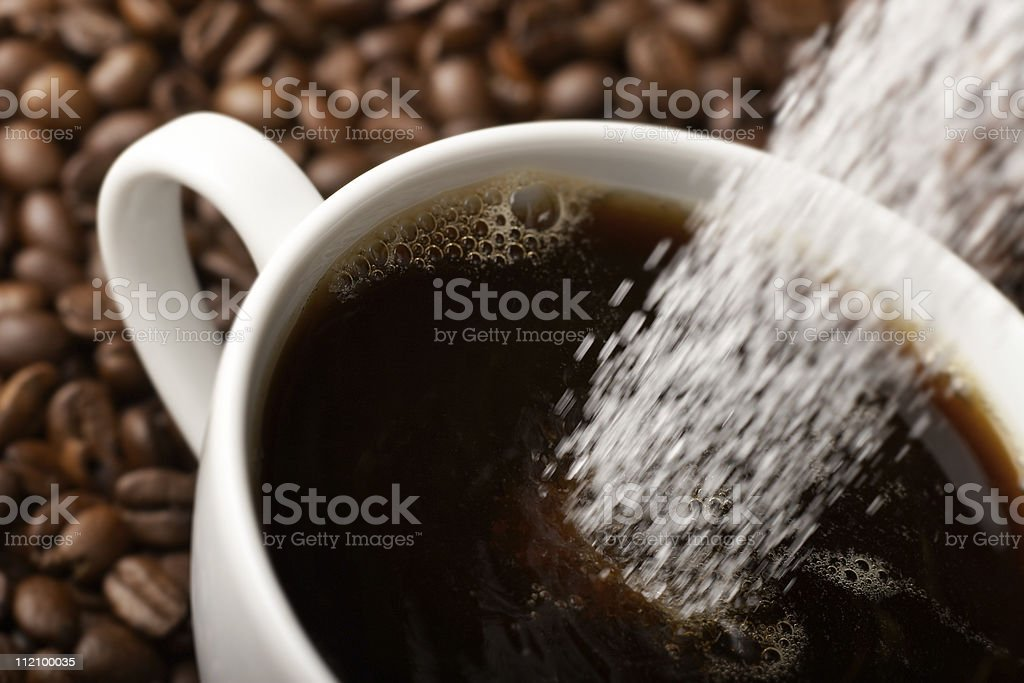 Coffee with sugar royalty-free stock photo