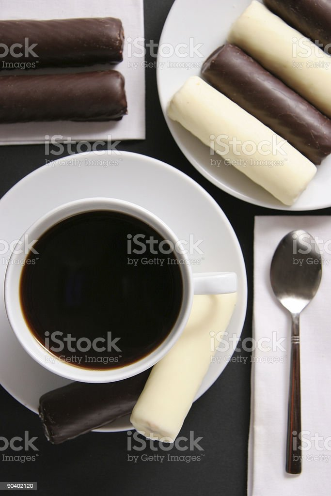 Coffee with sweets. royalty-free stock photo