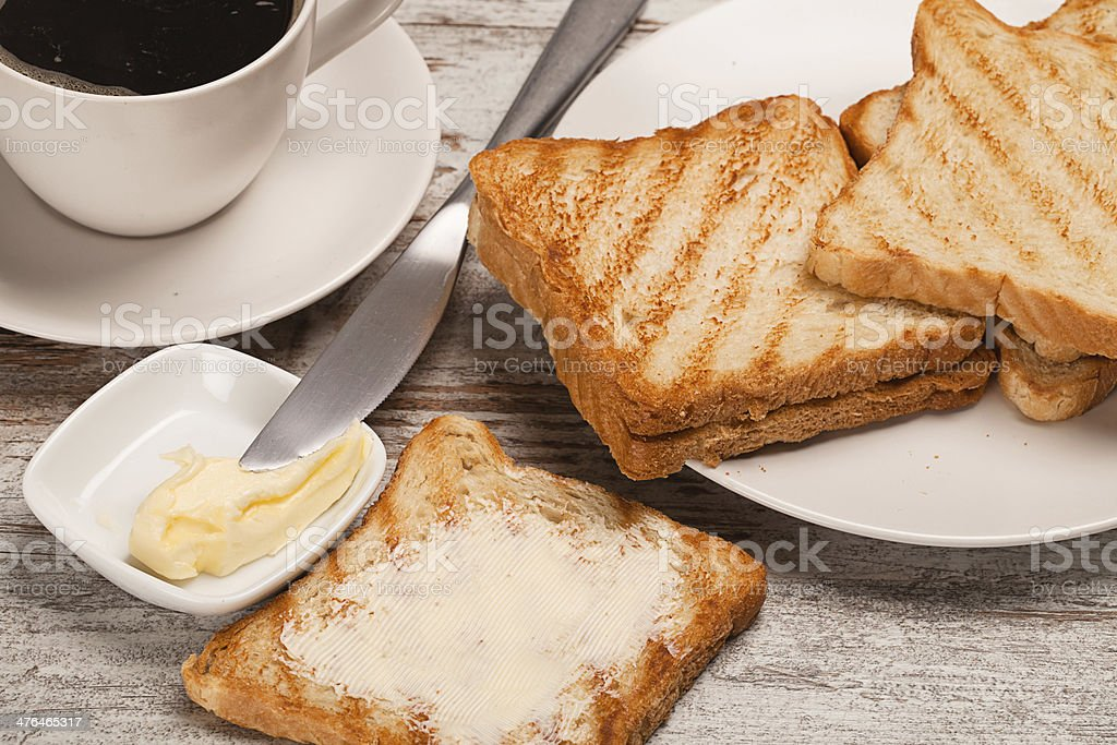 coffee with toasts royalty-free stock photo