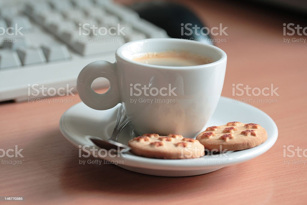 coffeebreak in an office royalty-free stock photo
