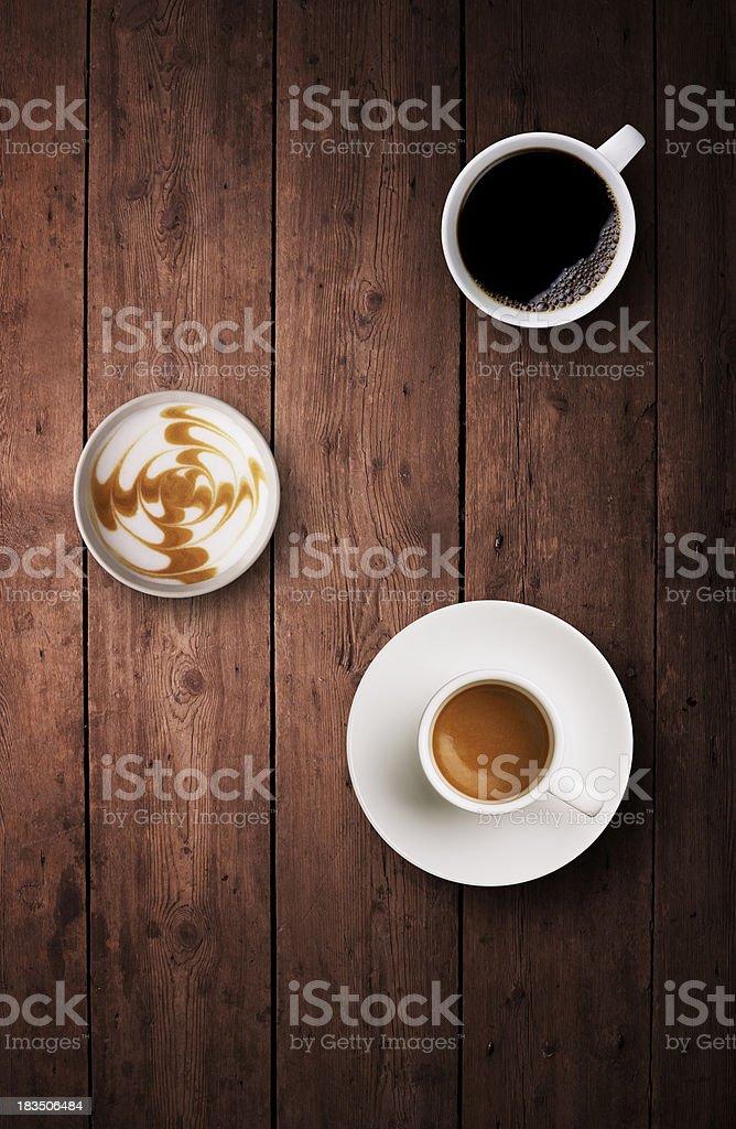Coffeebreak on table royalty-free stock photo