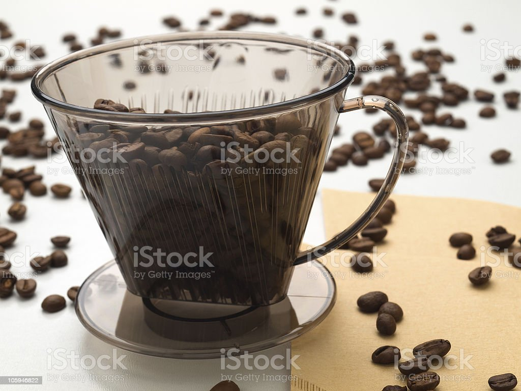 Coffee-filter royalty-free stock photo