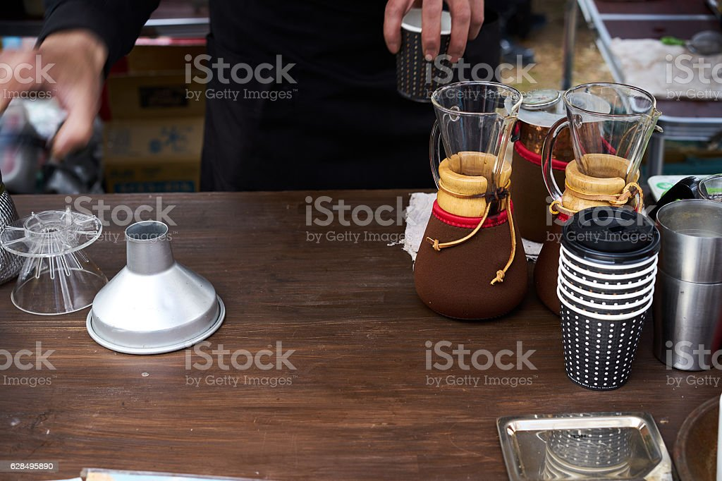 coffeemaking_1 stock photo