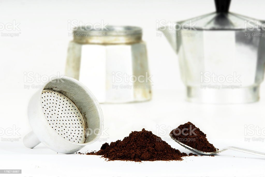Coffeepot royalty-free stock photo