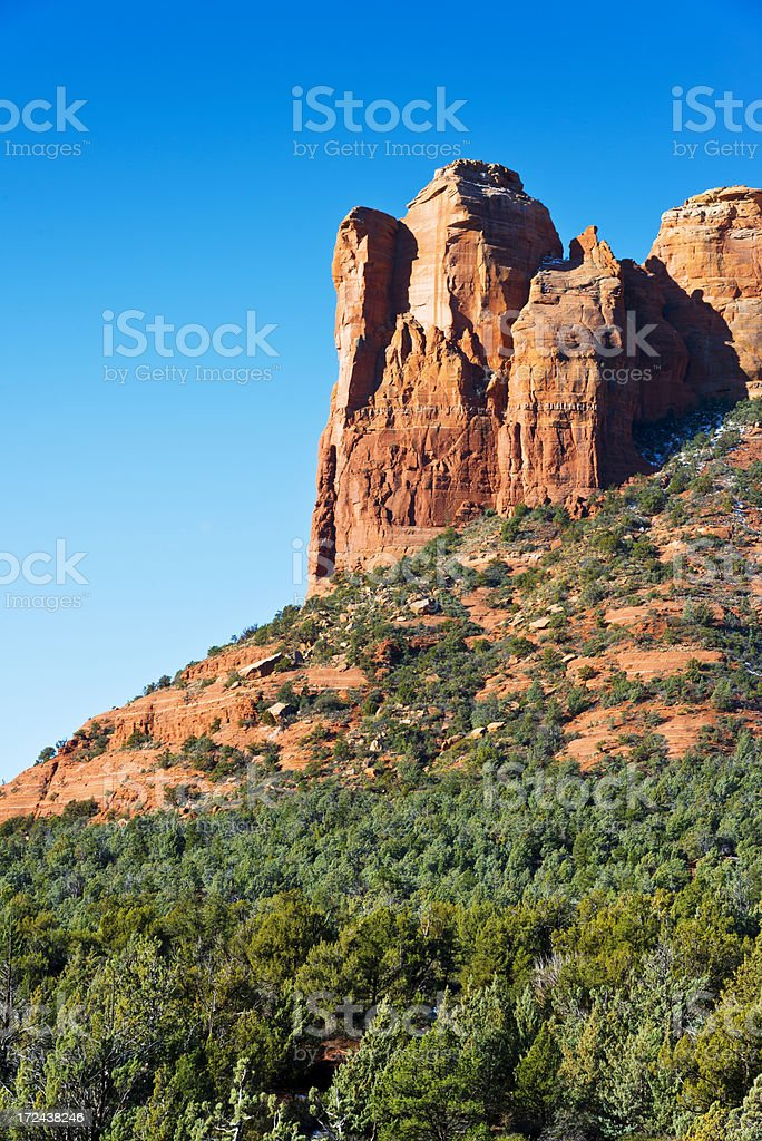 Coffeepot Rock near Sedona royalty-free stock photo