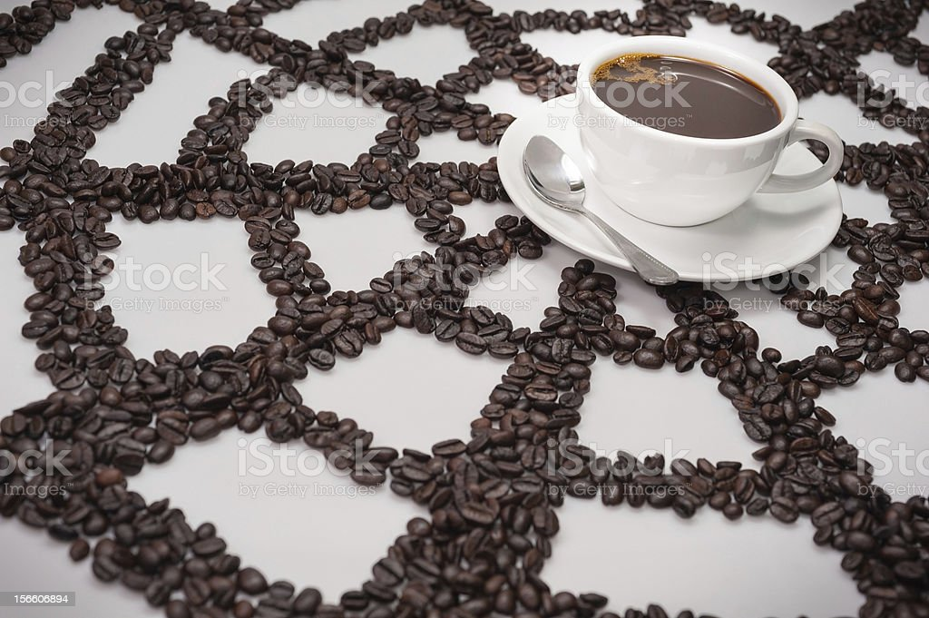 Coffee's attraction royalty-free stock photo