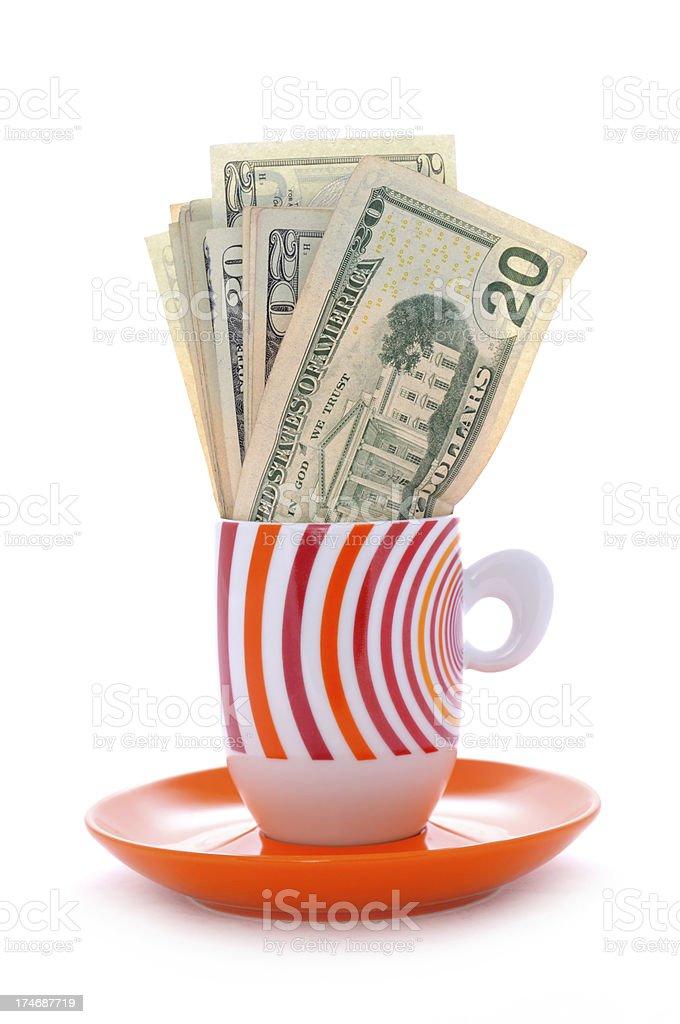 coffee's money royalty-free stock photo