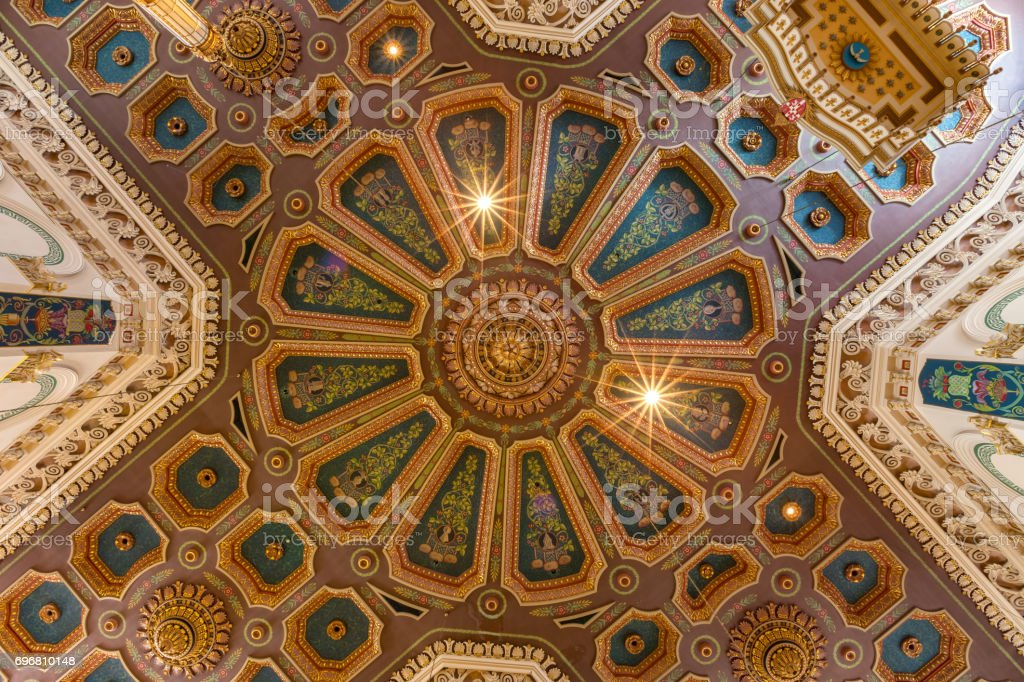 Coffered ceiling of Basilica-Cathedral of St. John the Baptist in St. John's Newfoundland Canada stock photo