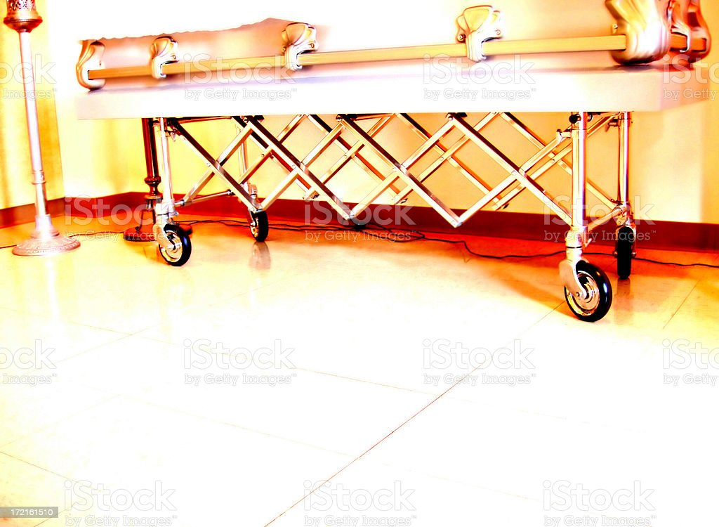 Coffin and Stand - High Contrast royalty-free stock photo