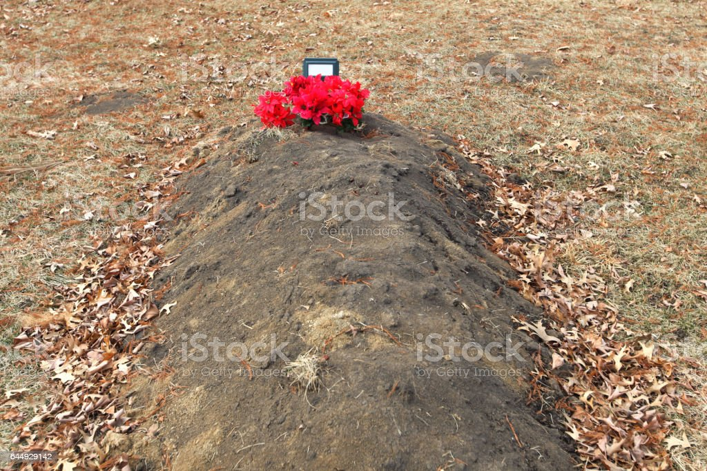 Coffin Burial stock photo