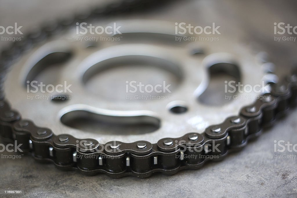 Cog and Chain royalty-free stock photo