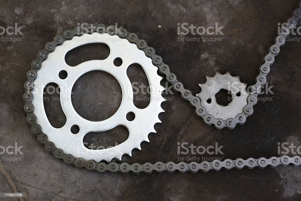Cog and Chain stock photo