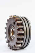cog gear wheels on white background.