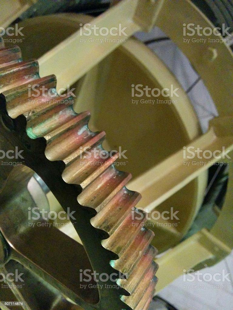 Cog in mechanism stock photo