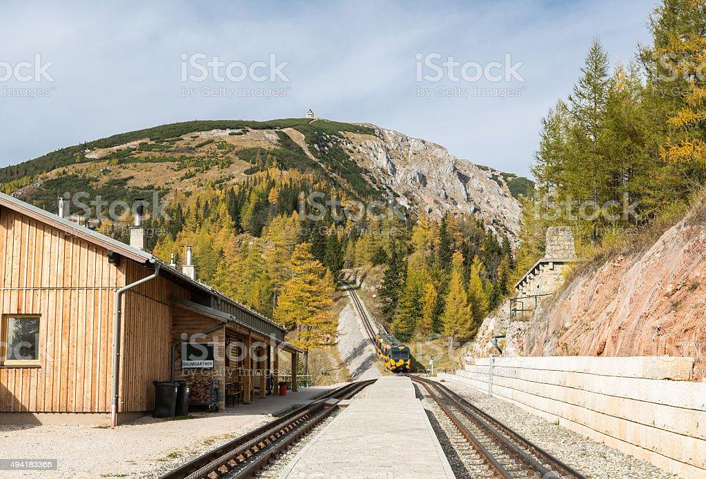 Cog Railway Station, Lower Austria stock photo